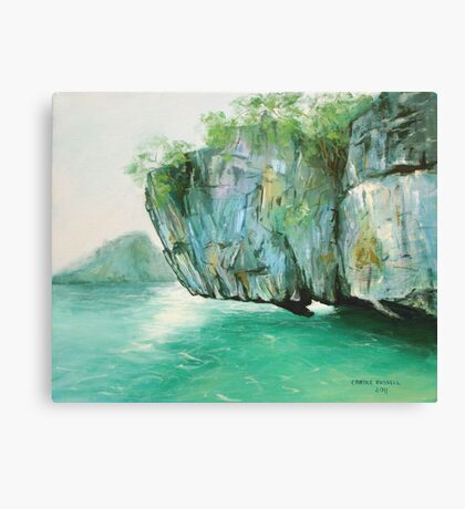 Hanging rock - Thailand Canvas Print