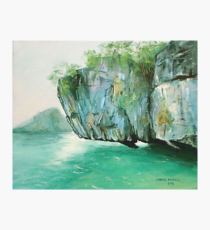 Hanging rock - Thailand Photographic Print