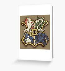 Ghibliwarts Crest Greeting Card