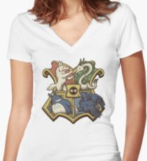 Ghibliwarts Crest Women's Fitted V-Neck T-Shirt