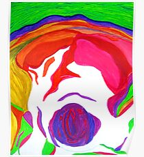 """"""" Psychedelic Brain Damage""""-Homage to Pink Floyd. Poster"""