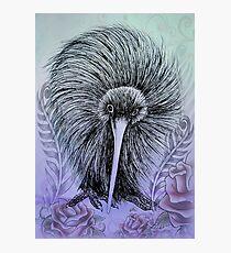 NZ Kiwi - Rock-a-billy Blue Photographic Print