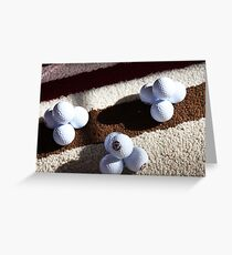 Golf Ball Pyramids Greeting Card