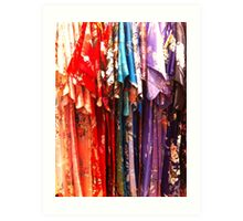 Colorful Kimonos Art Print