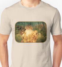 Victorian Christmas ~ White Santa Slim Fit T-Shirt