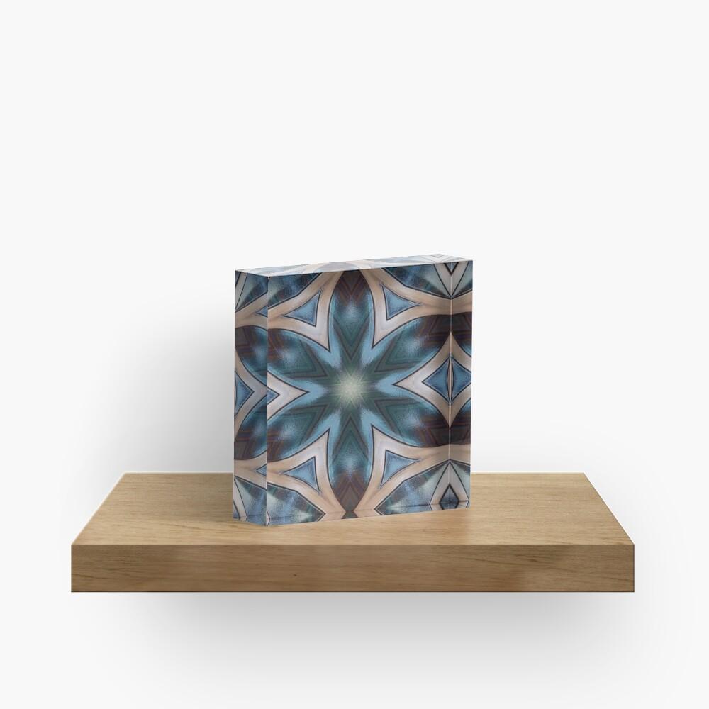 Desert Colors Kaleidoscope Acrylic Block