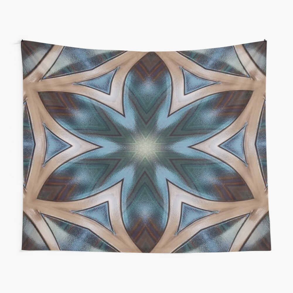 Desert Colors Kaleidoscope Wall Tapestry