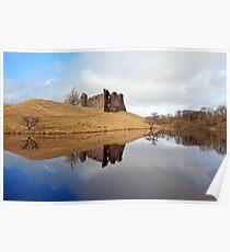 Morton Castle reflection Poster