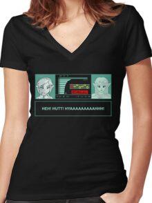 Metal gear Zelda Women's Fitted V-Neck T-Shirt
