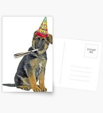 German Shepherd Birthday Postcards
