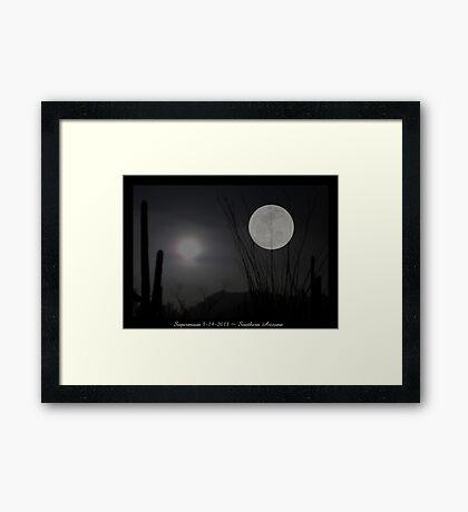 "Super ""Desert"" Moon in Southern Arizona Framed Print"
