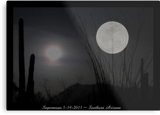 """Super """"Desert"""" Moon in Southern Arizona by Kimberly Chadwick"""