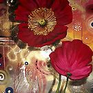 Red Poppies - Finding Beauty in Chaos Series by Cherie Roe Dirksen