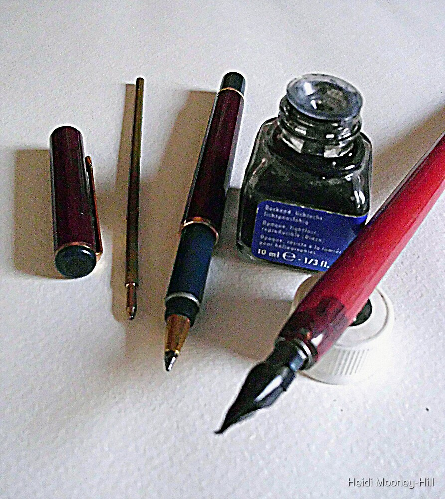 Pens....past and reality by Heidi Mooney-Hill