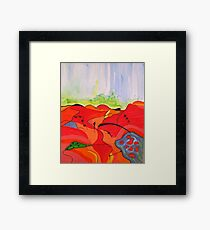 Landscape in Abstract Framed Print