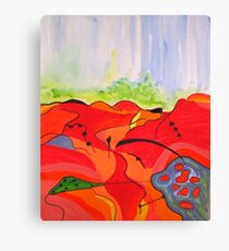 Landscape in Abstract Canvas Print