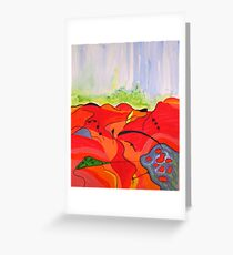 Landscape in Abstract Greeting Card