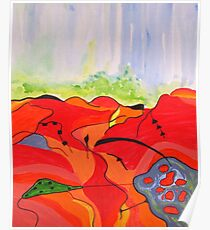 Landscape in Abstract Poster