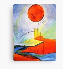 Abstract Landscape Composition Canvas Print