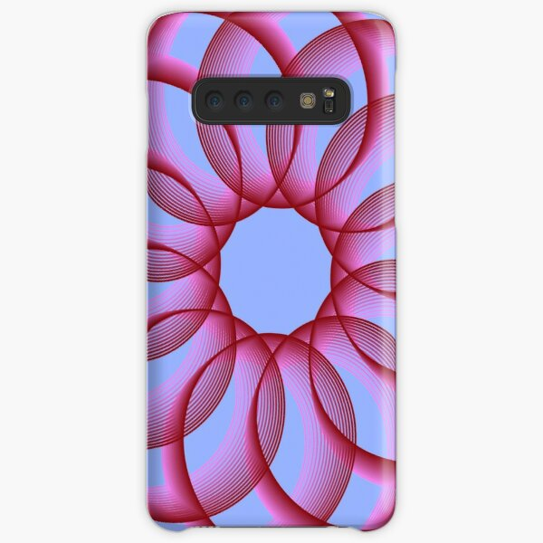 Spirograph with Red Pink Blue Samsung Galaxy Snap Case