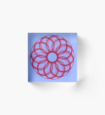 Spirograph with red Acrylic Block