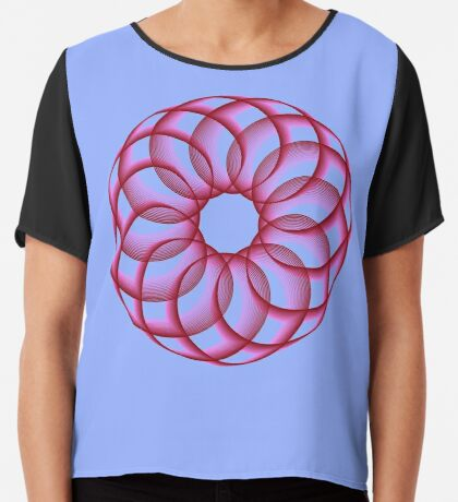 Spirograph with red Chiffon Top