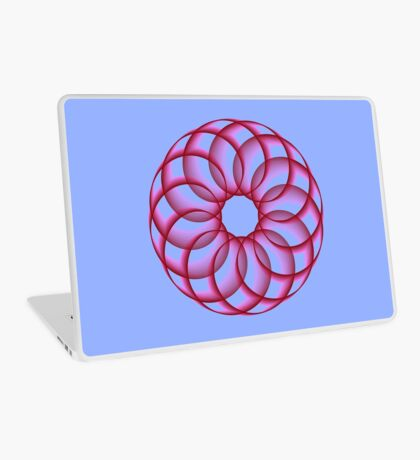 Spirograph with red Laptop Skin