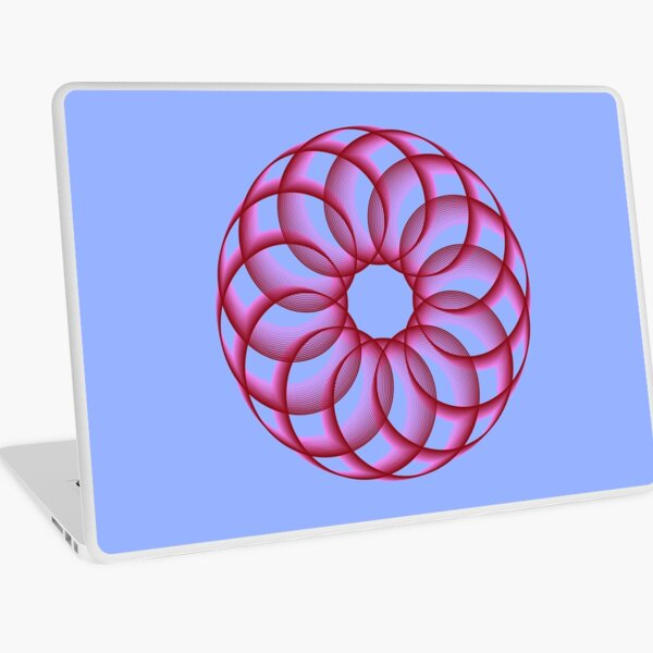 Spirograph with Red Pink Blue Laptop Skin