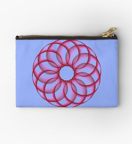 Spirograph with red Zipper Pouch