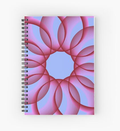 Spirograph with red Spiral Notebook
