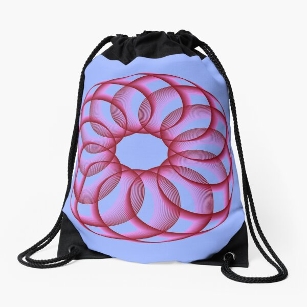 Spirograph with Red Pink Blue Drawstring Bag