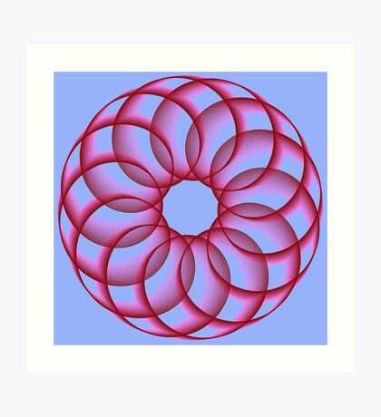 Spirograph with red Art Print