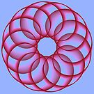 Spirograph with red by Shapes-Mania