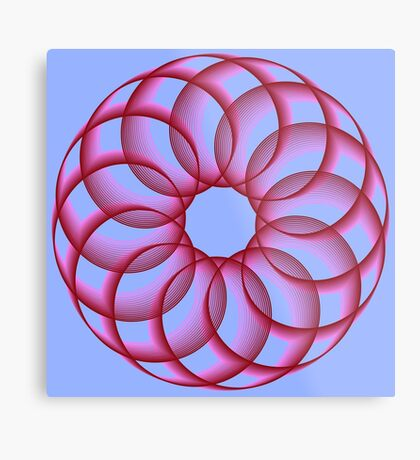 Spirograph with red Metal Print