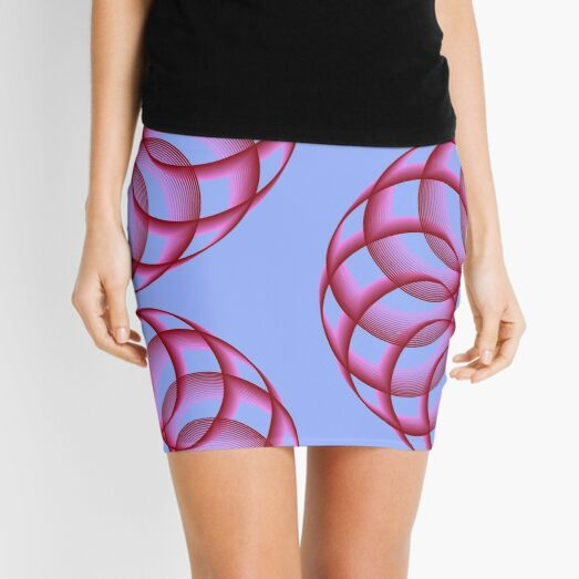Spirograph with Red Pink Blue Mini Skirt