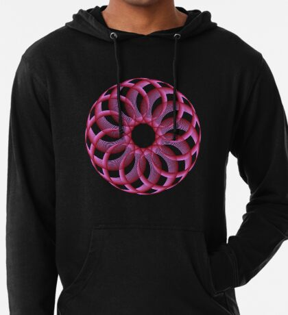 Spirograph with red Lightweight Hoodie
