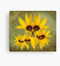 Mrs. Field Corn And The Kids Canvas Print