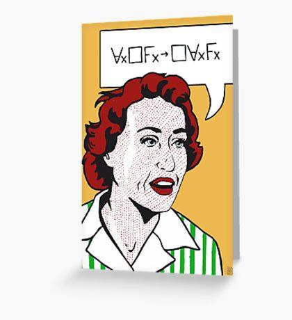 Ruth Barcan Marcus Greeting Card