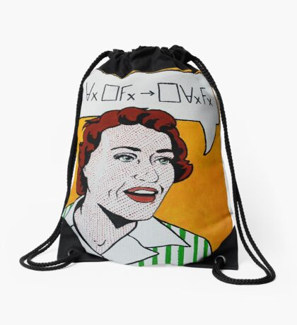 Ruth Barcan Marcus Drawstring Bag