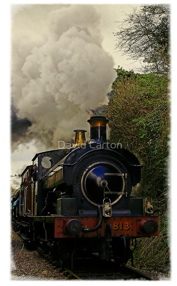 Steam train, East Somerset Railway, UK by David Carton