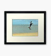 Airborne Kitesurfer Framed Print