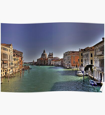 Canal Grande - View from Accademia Bridge - Venice Poster