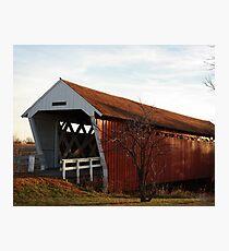 Imes Covered Bridge (Bridges of Madison County) Photographic Print