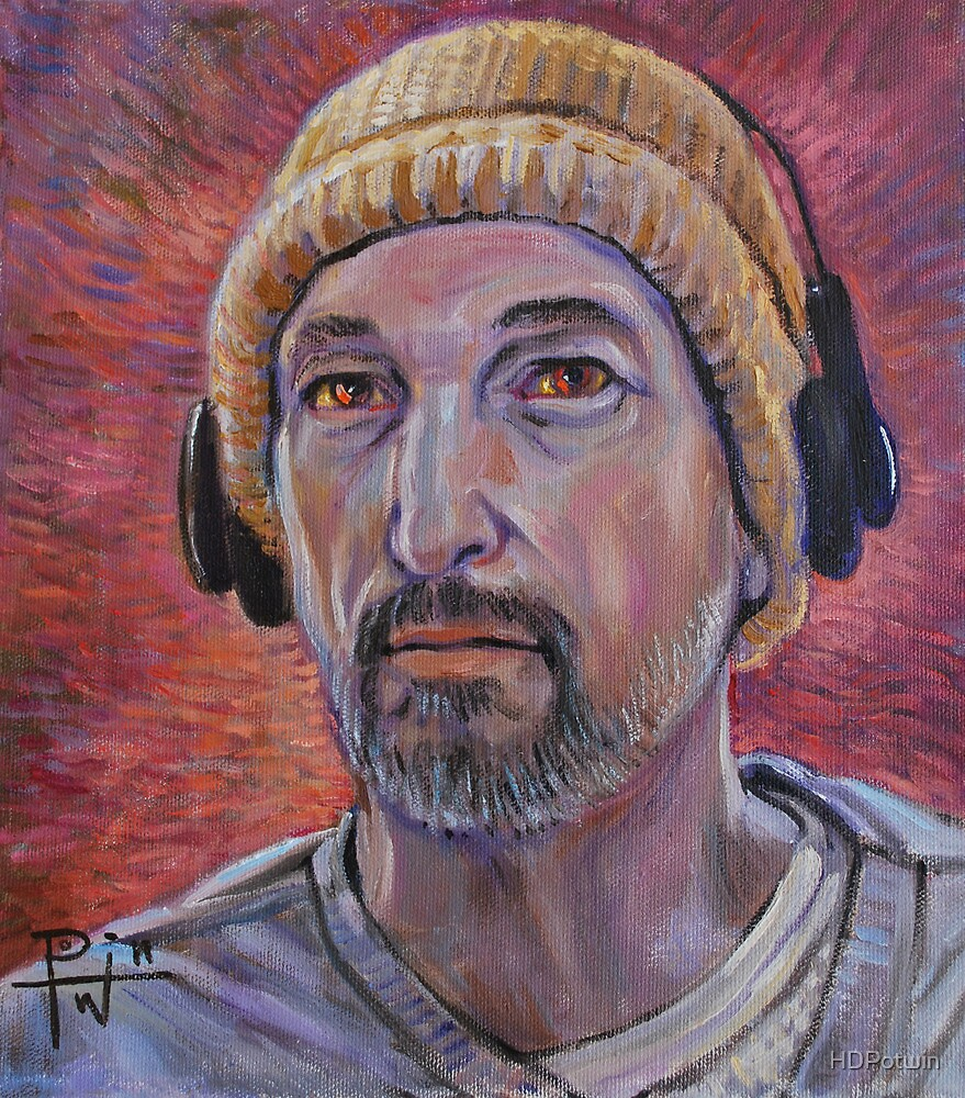 Self Portrait with Headphones by HDPotwin