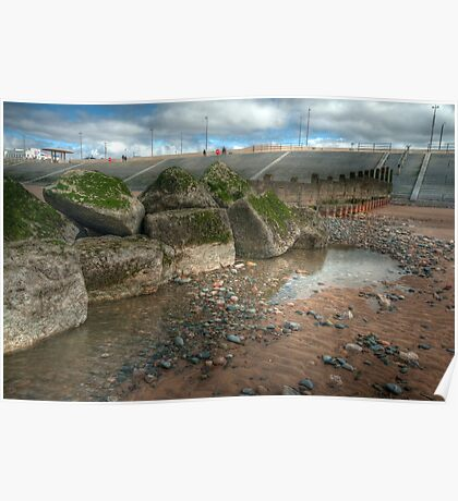 Rock Pool and Groyne Poster
