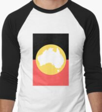 Aboriginal Flag Australia Baseball ¾ Sleeve T-Shirt