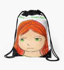 Red Hair . . . Don't Care Drawstring Bag