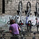 Bicycles on hooks by JudyBJ