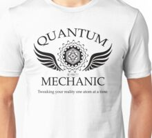QUANTUM MECHANIC (blk) Unisex T-Shirt