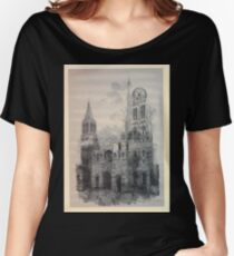 Auguste Lepère Façade of Rouen Cathedral by Auguste Lepère Women's Relaxed Fit T-Shirt